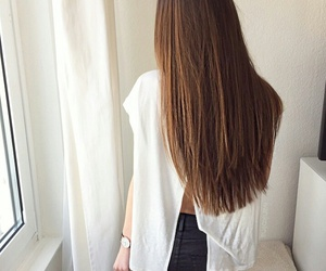 brunette and long hair image