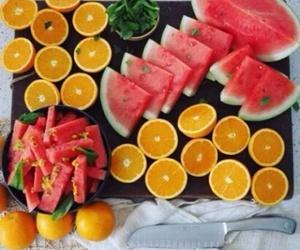 fitness, orange, and watermelon image