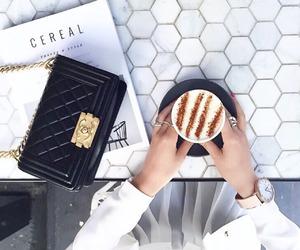 coffee, white, and bag image