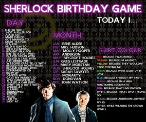 sherlock, game, and birthday image