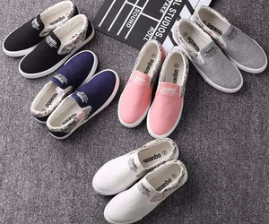 pink, shose, and white image