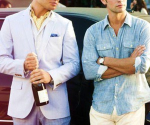 gossip girl, chuck bass, and nate archibald image