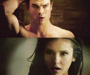 damon salvatore, Nina Dobrev, and the vampire diaries image