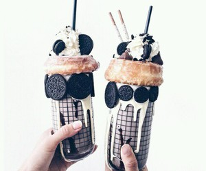 coffee, oreo, and drink image