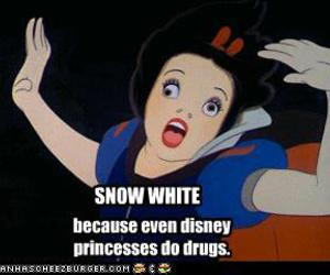 blanche neige, disney, and drugs image