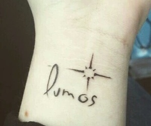 harry potter, tattoo, and lumos image