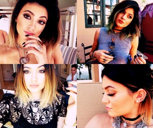 jenner, kyliejenner, and dipdyedhair image