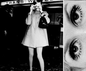 twiggy, eyes, and black and white image