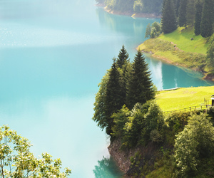 nature, lake, and italy image