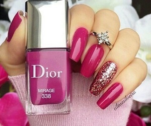 dior, fashion, and pink image