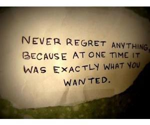 regret, quote, and life image