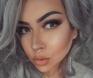 alternative, eyebrows, and flawless image