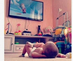 animation, baby, and tv image