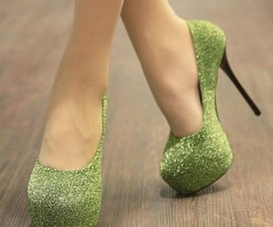 shoes, heels, and green image
