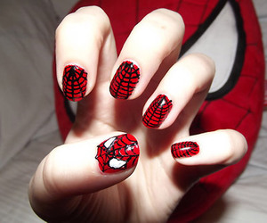 nails, spiderman, and red image