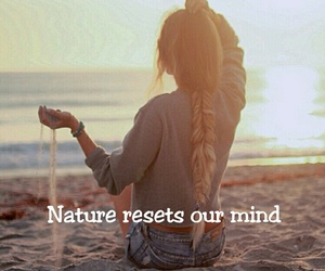 beach, mind, and nature image