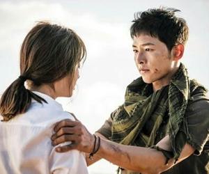 song joong ki, song hye kyo, and descendants of the sun image