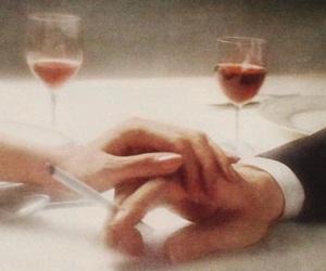beautiful, couple, and wine image