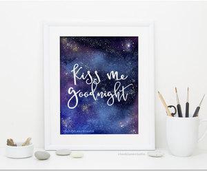 etsy, night sky stars, and kiss me goodnight image