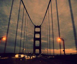 bridge, car, and light image
