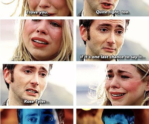 doctor who, rose tyler, and doomsday image