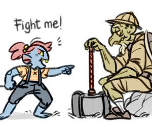 comic, undertale, and undyne image