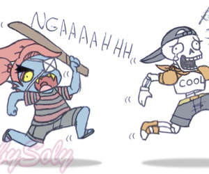comic, papyrus, and undertale image