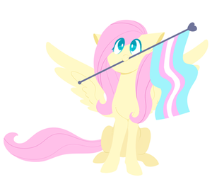my little pony, trans, and fluttershy image
