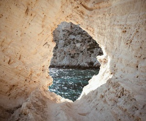 nature, sea, and cave image
