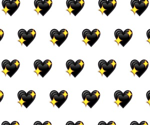 black, heart, and wallpapers image