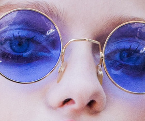 grunge, blue, and glasses image