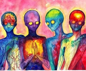 art, alien, and trippy image