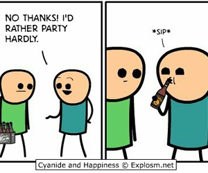 cyanide and happiness, funny, and party image