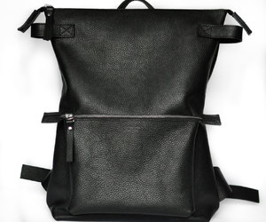 backpack, leather backpack, and woman's backpack image