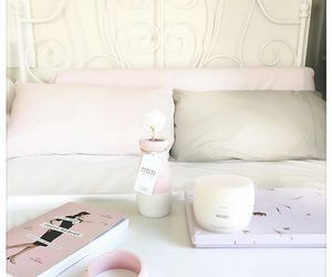 bedroom, pastel, and pink image