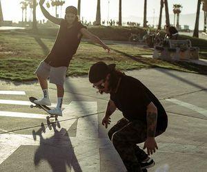 boys, djs, and skateboard image