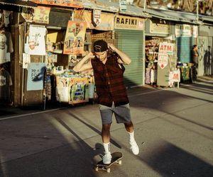 boy, dj, and skateboard image