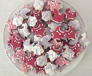 baby, Cookies, and pink image