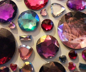 diamonds, gem, and pink image