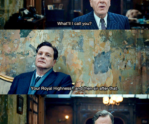 Colin Firth, the king's speech, and geoffrey rush image