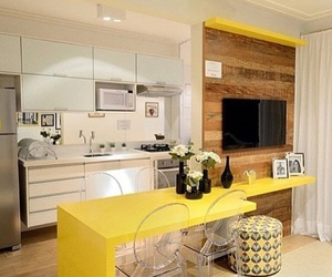 chair, yellow, and decor image