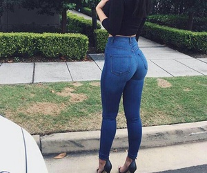 body, booty, and jeans image