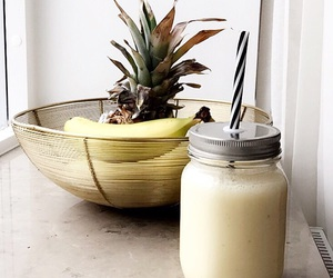 banana, pineapple, and smoothie image