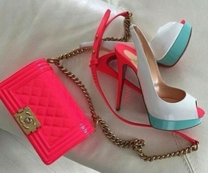 colourful, louboutin, and heels image