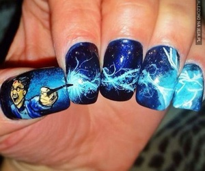 nails, harry potter, and nail art image