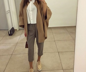 camel, shoes, and coat image