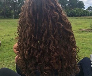 hair, curls, and girl image