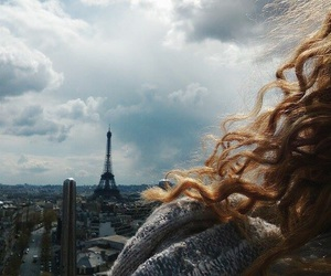 couple, curly hair, and eiffel image