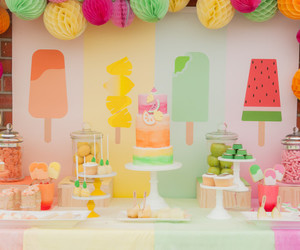 decoration, summer, and frutas image