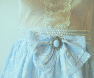 blue, lace, and vintage image